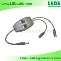 2 Way Inline Switch with DC barrel connector for LED Lighting for sale