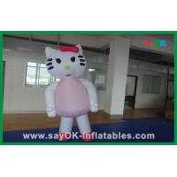 Quality Custom Decoration Pink Cat Inflatable Cartoon Characters For Party for sale