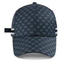 Quality Custom Logo Structured Baseball Cap Sports Hat Strap With Metal Buckle Sublimation Printing for sale