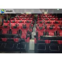 Quality Motion Chair 4D Cinema System Metal Flat Screen / Arc Screen 4D Movie Theater for sale