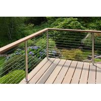 Quality Wooden Handrail Ss Cable Railing Modern Cable Stair Railing Home Depot for sale