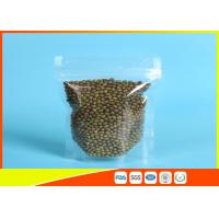 Quality Clear Stand Up Pouches With Zipper For Household Use , Zip Lock Pouch Bags for sale