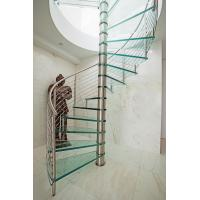 Quality Inside spiral staircase with stainless steel railing design for sale