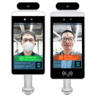 China Industrial 8 Inch Android OS Body Temperature Detector Face Recognition Ethernet Relay RS485 Wiegand on sale