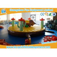 Buy 0.55mm PVC Tarpaulin Inflatable Sport Games , 5*5m Inflatable Rodeo Bull at wholesale prices