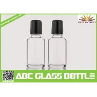 Quality Wholesale White 30ml Roll On Glass Bottle With Roller, Bottle Roll-on, Clear Essential Oil Glass Bottle for sale