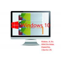 Quality Genuine Microsoft win 10 professional Sticker 64bit Systems Online Activate Multi Language for sale