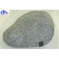 Quality Customized Flat / Peaked / Casquette Caps / Hats Grey body / Black lining for sale
