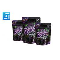 Quality Dark Purple Printing Foil Stand Up Pouches Package Chocolate With Tear Notch for sale