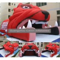 Quality BLue color inflatable helmet tunnel school rugby sports with customized logo for sale