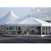 Quality Rain Proof Event Mixed Marquee Tents Marquee Party Tent Wooden Flooring for sale