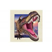 Quality Dinosaur Image 0.6mm PET 3d Lenticular Pictures For Decoration 40x40cm for sale