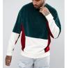 Fashion Blank Mens Velour Sweatshirt , Mens Drop Shoulder Sweatshirt With Stitched for sale