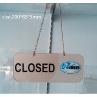 Quality Transparent Acrylic Photo Frames Non-toxicity with a metal chain for sale