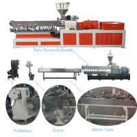 Quality Color Masterbatch Twin Screw Extruder , Pvc Extruder Machine Water Strand Cutting System for sale
