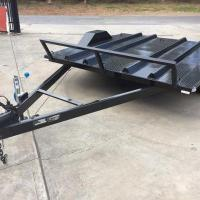 Quality 8x6 Motor Bike Motorcycle Utility Trailer , Easy Load Tandem Axle Utility Trailer for sale