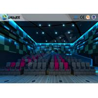 Quality Electric Pneumatic System 3D 4D Movie Theater Special Effect Black Motion Chairs for sale