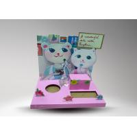 Quality Pink Cartoon Custom Cardboard Display With Rabbit Cartoon For Promotion for sale