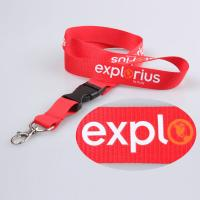 Quality lanyards and badge holders Silk Screen Printing Lanyard for sale