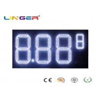 Buy cheap Outdoor White Color Roadside Gas Station Led Price Sign With CE / RoHS Approved from wholesalers