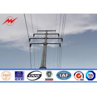 China 12m 800Dan Electrical Steel Power Pole For Electrical Line Project on sale
