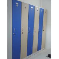 Buy cheap 1 Tier Bule Employee Storage Lockers PVC Material With Master Combination Padlock from wholesalers