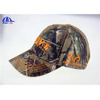 Quality Large Washed Cotton Camo Baseball Caps / Outdoor Sunshade Cap and Hats for sale