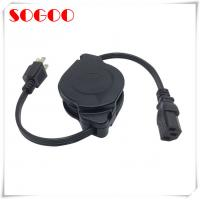 Quality Custom Length Retractable Power Cord / Power Cable Assembly For Hair Straightener for sale