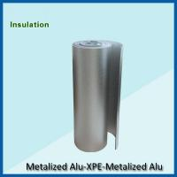 Quality Double  sided aluminum foil backed  XPE insulation,BLUE fire proof XPE insulation for sale