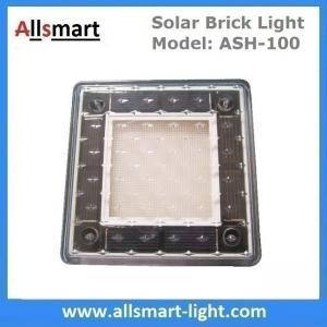 Quality 4x4 inch Solar Paver Lights Patio Solar Brick Lights Garden Landscaping Solar Underground Inground Lights for sale