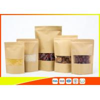 Quality Kraft Paper Coffee Bags / Resealable Food Packaging For Tea , Snack for sale