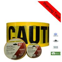 Quality High - Strength 100m Yellow PE Custom Barricade Tape with Caution Printing for sale
