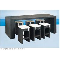 Quality 2014 popular rattan bar table and bar chair set for sale