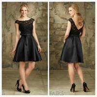 Quality Black Short Lace Mother of the bride dress evening dress #31067 for sale