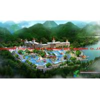 Wonderland Water Park Project With Boomerang Slide and Surf Wave Pool for sale