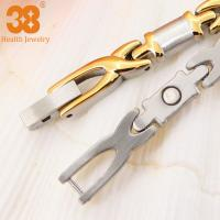 Buy cheap Charm Classic Design 24k Plating Gold Titanium Infrared Bio Element Brace lace ,anchor bracelet from wholesalers