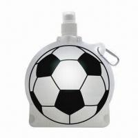 Quality Football Ball-shaped Drink Water Bottle with Carabiner Hooks for sale