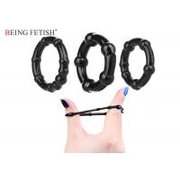 Quality Black White Silicone Pleasure Ring Ultra Stretchy Love Ring Set 3 Pack Being Fetish for sale