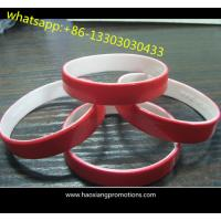 Quality Hot Sale Double Sided Custom Cheap Silicon Bracelet,Custom Dual Silicon wristband For Gift for sale