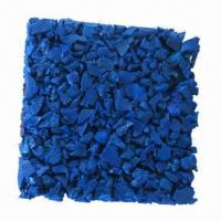 Quality Blue Color Rubber Plate, Safety Rubber Surfacing for sale