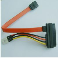 Quality SATA22P to SATA7P + 4p CD-ROM Cable , 3.5 inch HDD DVD-ROM Power Line 4P/Pin Data Power Wire Power Supply SATA Cable for sale