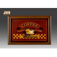 Quality Decorative Wall Plaques Wooden Wall Signs Coffee Shop Wall Decor Antique Home Decorations for sale