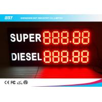 Quality Front Access Outdoor Led Gas Price Display With Remote Control , Waterproof Cabinet for sale