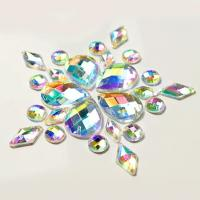 Buy cheap Colorful Pear Shaped Sew On Glass Crystals , Extremely Shiny Sew On Gemstones from wholesalers