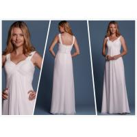 Quality Sheath Chiffon Beach wedding dress Bridal gown#6462 for sale