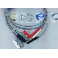 Buy Compatible Din Style Safety 3 Lead Ecg Cable , Grabber AHA Ecg Lead Wires at wholesale prices