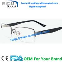 China Wenzhou factory metal optical frames stainless steel Half-Rim eyewear italy designer Spectacles for sale