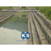 Quality Heavy Zinc Coated Gabion Basket Retaining Wall 8x12cm To Protect Riverbank for sale