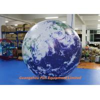 Quality Oxford / PVC Material Giant Inflatable Earth Globe 2m Diameter For Advertising for sale