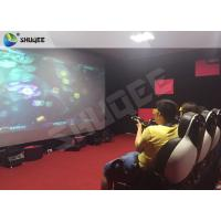 Quality Striking Amusement 7D Movie Theater With Gun Playing , Motion Chair for sale
